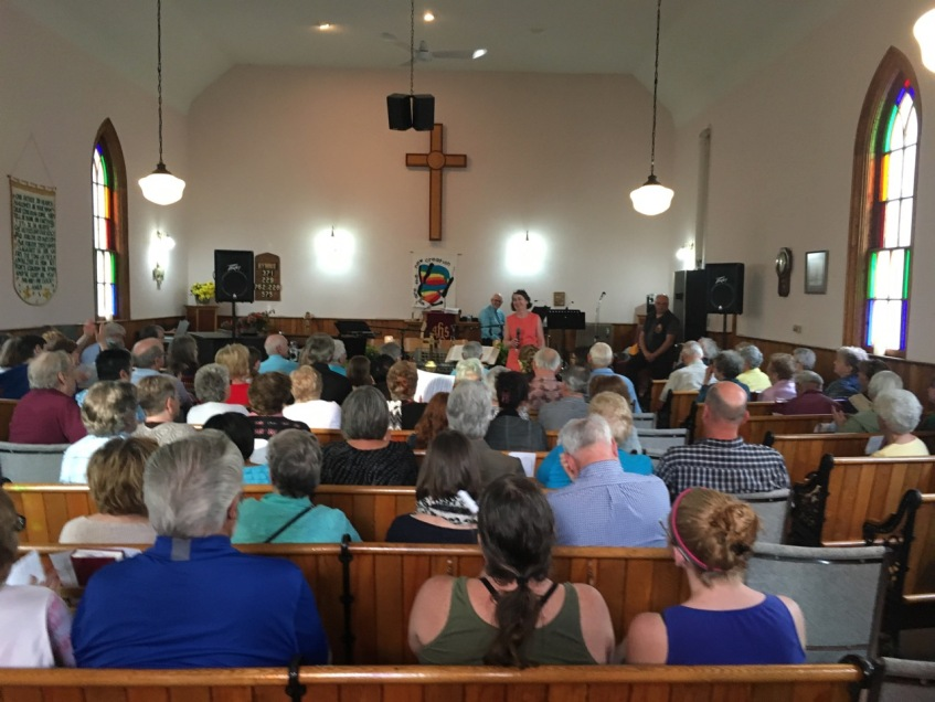 Packed church for music night