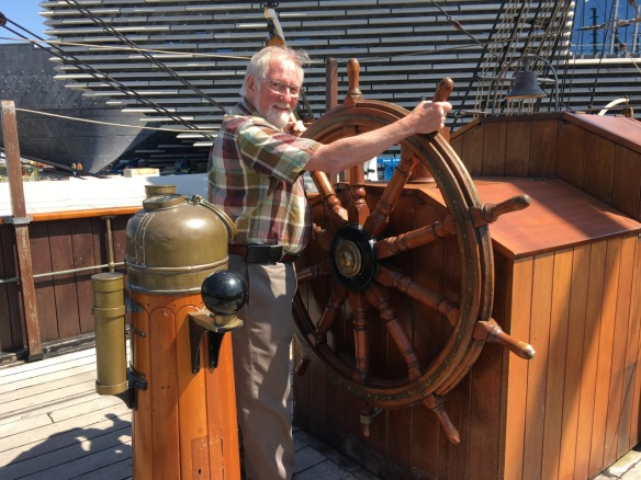 Raymond at the wheel of the Discovery