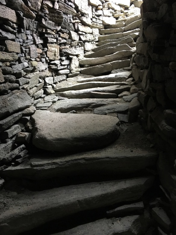 Stairway inside the broch at Dun Carloway