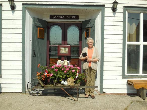 Barb Martin at former Sager's General Store by Queensborough Beauty