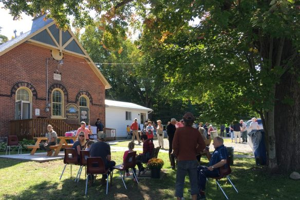 Enjoying the barbecue, Historic Queensborough Day