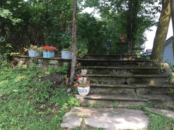 Flowers on the Methodist Church steps