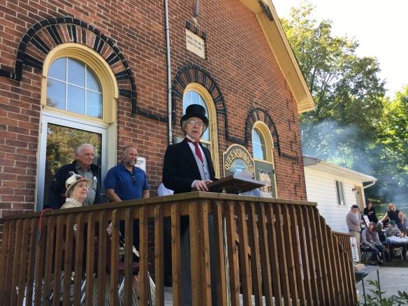 Sir John A. speaks, Historic Queensborough Day