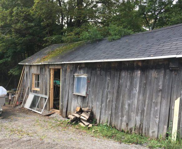 Work on garage at Daisy Cottage