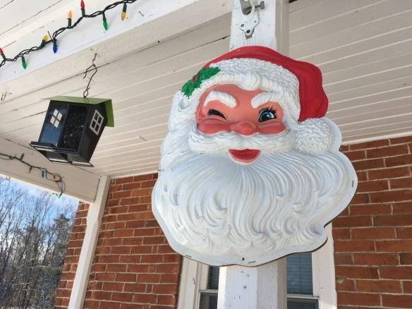 Santa and bird feeder, Dec. 24, 2017