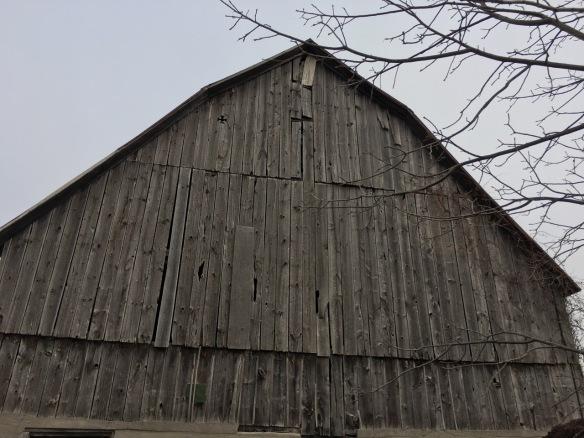 ermilyea Road barn with diamond cross