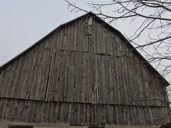 ermilyea Road barn with diamond cross