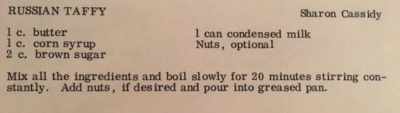 Russian Taffy recipe, Queensboro Cook Book
