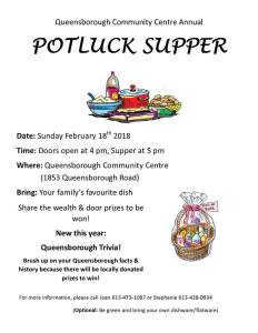 Potluck Supper poster 2018