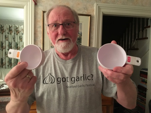 Raymond with dry-measure cups
