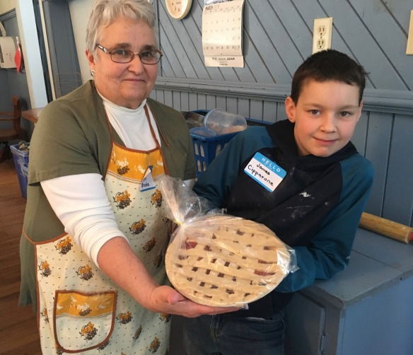 Ann and James with James's pie