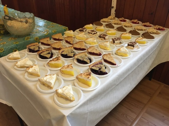 Pies at the 2018 Ham Supper