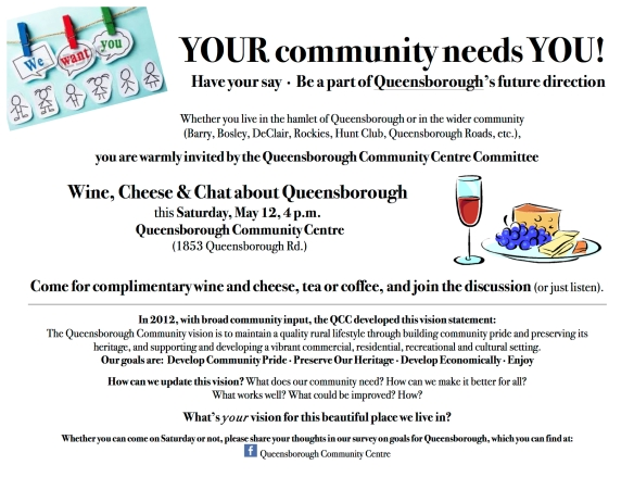 Queensborough wine, cheese and chat