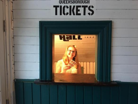 Stephanie at the ticket booth