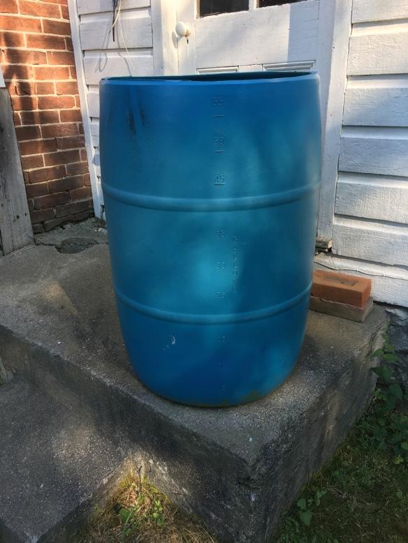 Bare-bones rain barrel