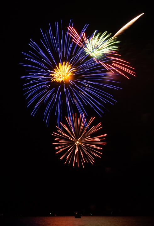Marmora fireworks by Lloyd Holmes