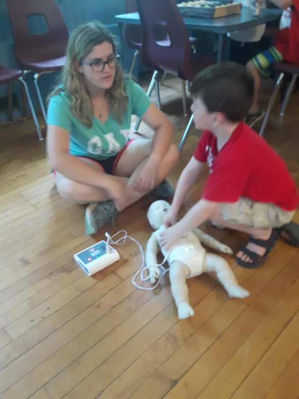 First aid at drop-in program