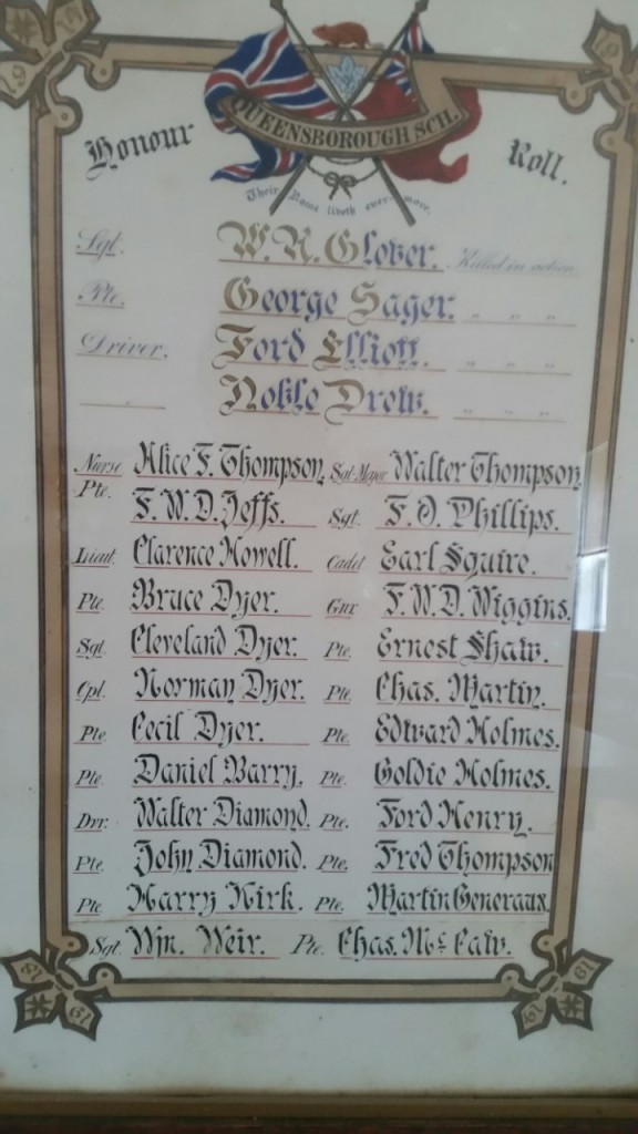 WW1 names from QCC