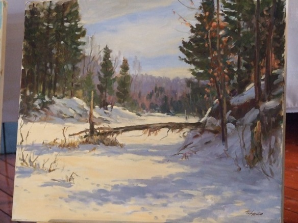 Art in Q: Winter Day at the Rockies, Poul Thrane