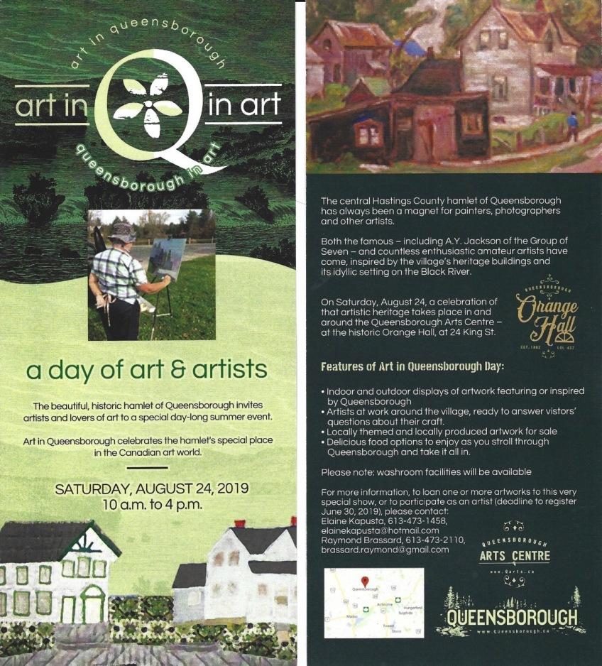 Q in Art rack cards