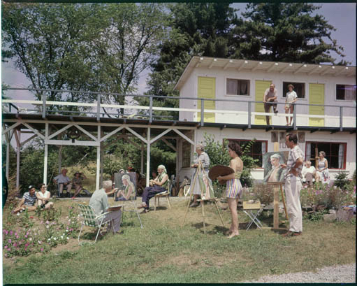 Students at the Madoc Summer Art School, 1957