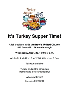 Turkey Supper poster 2019