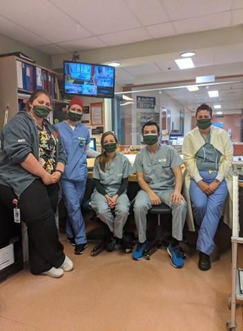 Bancroft medical staff with Eliza's masks